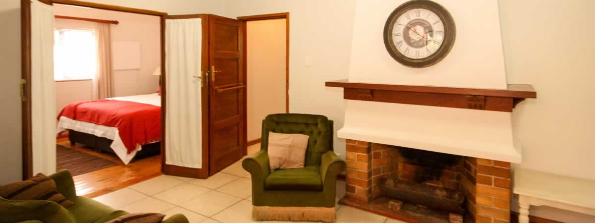 Room and Fire Place at 39 on Nile Guest House in Port Elizabeth